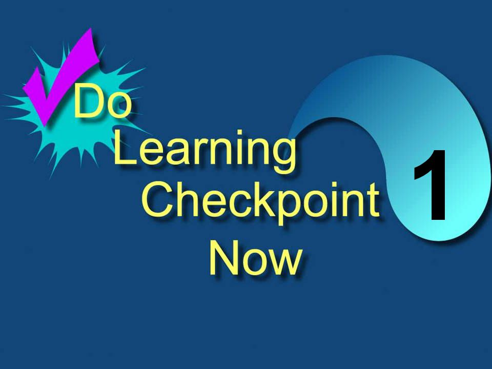 6-27 DO THE CHECKPOINT 1 QUESTIONS NOW 1