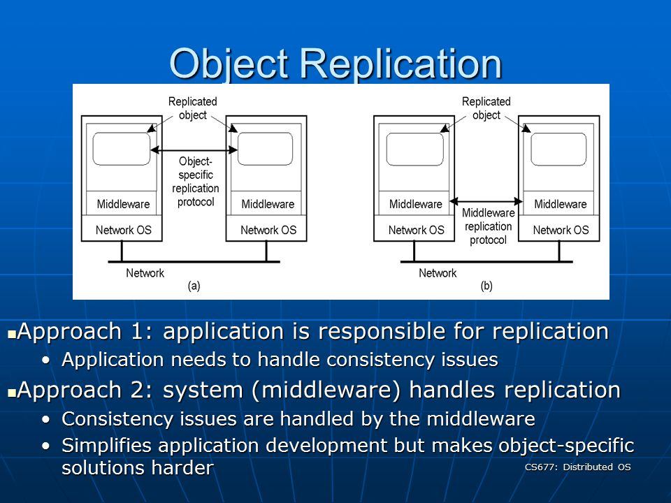CS677: Distributed OS Why replicate.