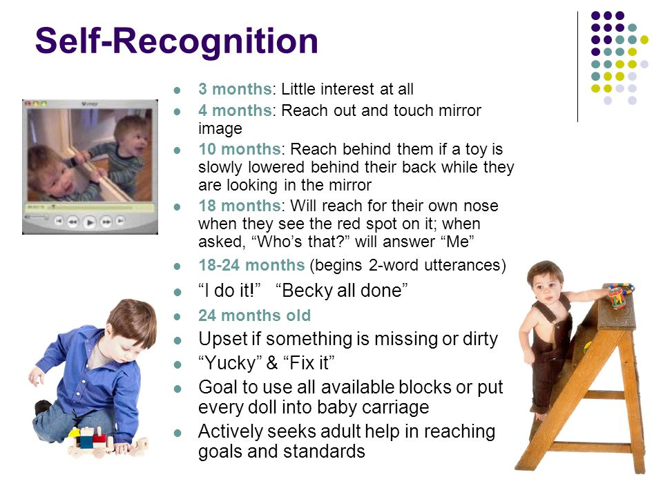 Developing a Sense of Self Self-recognition Secondary emotions