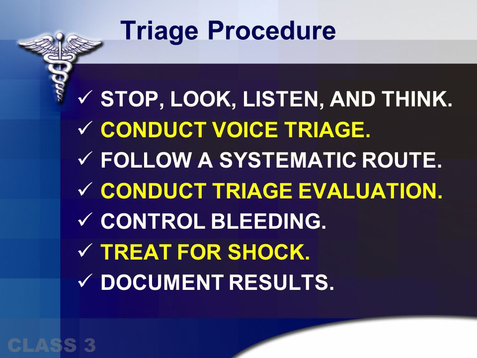 TRIAGE – Mental Status Remember To Assess The MINOR Injured The Walking Wounded NO Tag I IMMEDIATE & Treat For Bleeding & Shock Assess Shock By Checking Mental Status YES Tag D DELAYED Follows Simple Commands