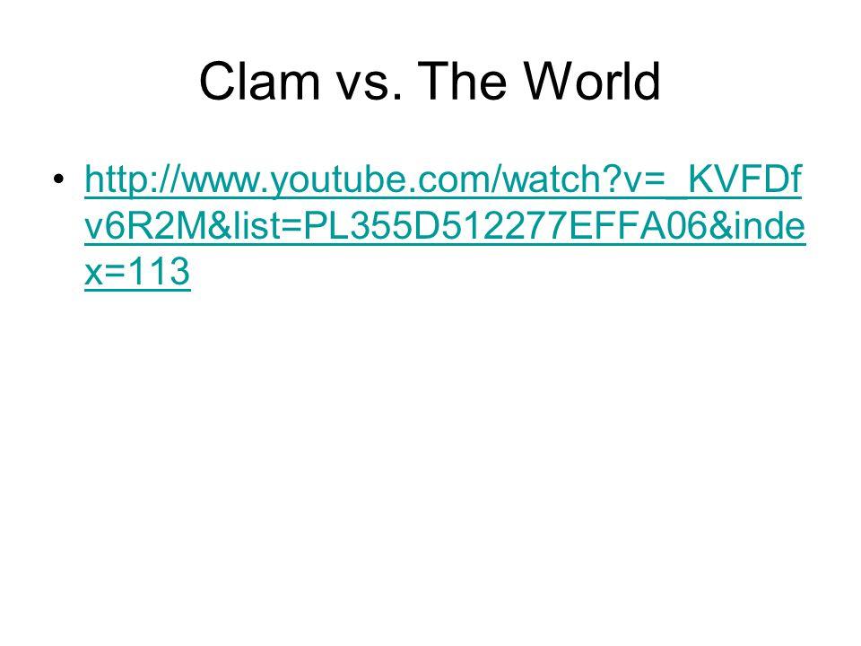 Clam vs.