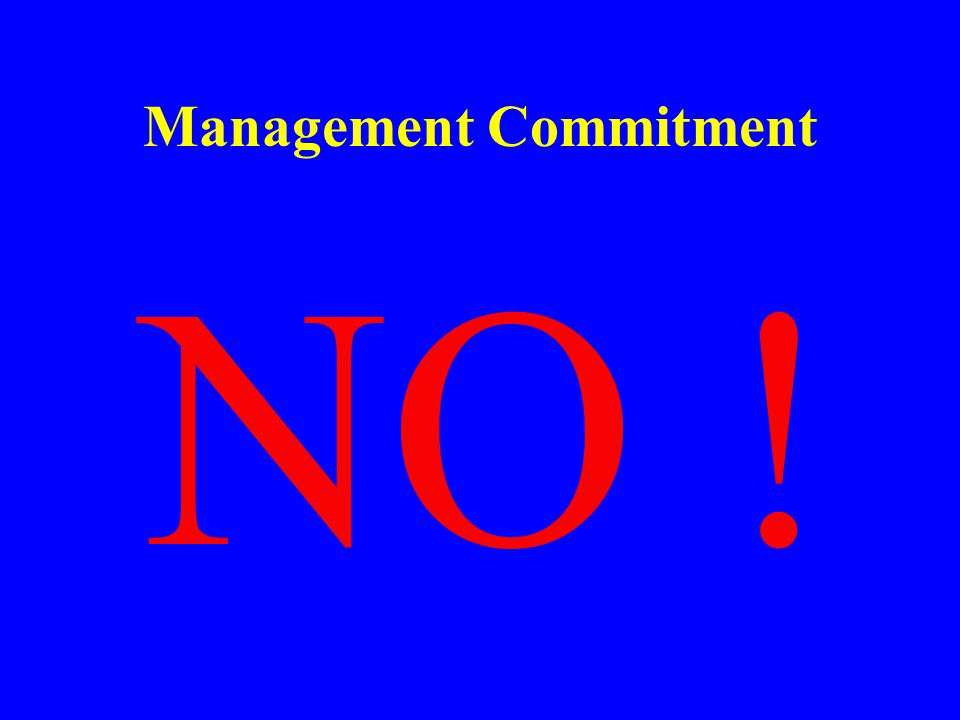 Management Commitment Should Management Consider Safety as a Priority in Conducting Business ??