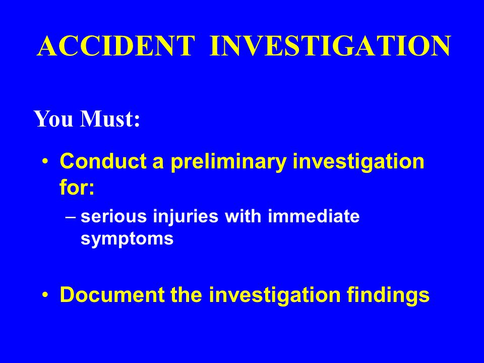 Indirect and Root Causes Unsafe acts and conditions are the indirect causes or symptoms of accidents Indirect causes are usually traceable to: – poor management policies and decisions – personal or environmental factors Root causes are the actual policies and decisions by management and the actual personal and environmental factors of the workplace