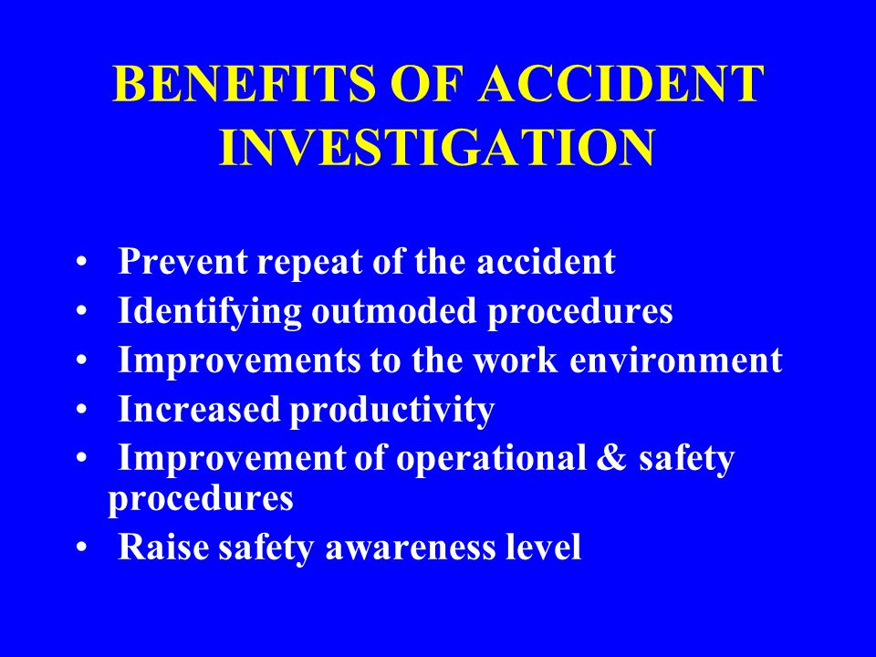 COMPANY ACCIDENT FORMS Must be filled out completely by the employee and employee's immediate supervisor (this includes foremen) Must be turned in to Safety within 24 hours of incident
