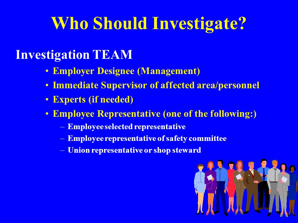 BENEFITS OF ACCIDENT INVESTIGATION WHEN AN ORGANIZATION REACTS SWIFTLY AND POSITIVELY TO ACCIDENTS AND INJURIES, ITS ACTIONS REAFFIRM ITS COMMITMENT TO THE SAFETY AND WELL-BEING OF ITS EMPLOYEES!