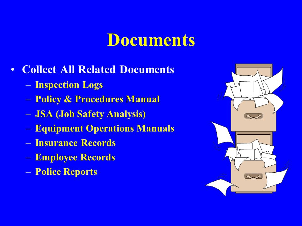 Review Records Check training records –Was appropriate training provided.