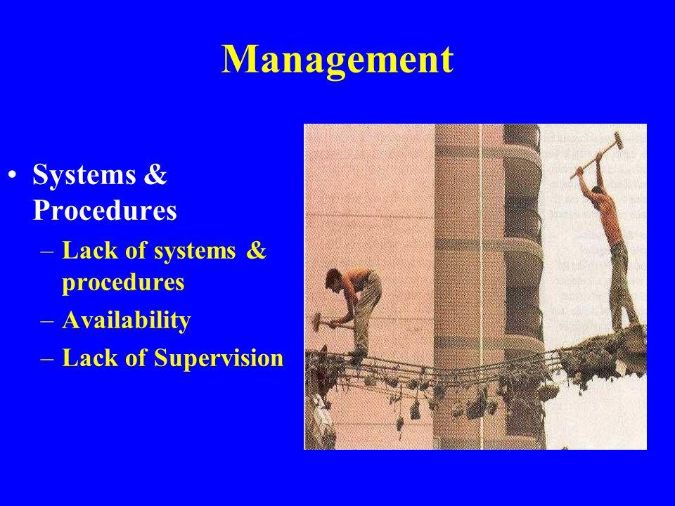 Basic Causes Management Environment Equipment Human Behavior Systems & Procedures Natural & Man-made Design & Equipment