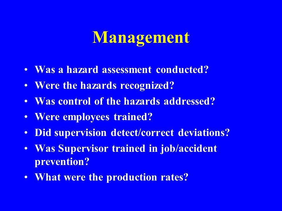 Basic Causes Management Environment Equipment Human Behavior Systems & Procedures Design & Equipment
