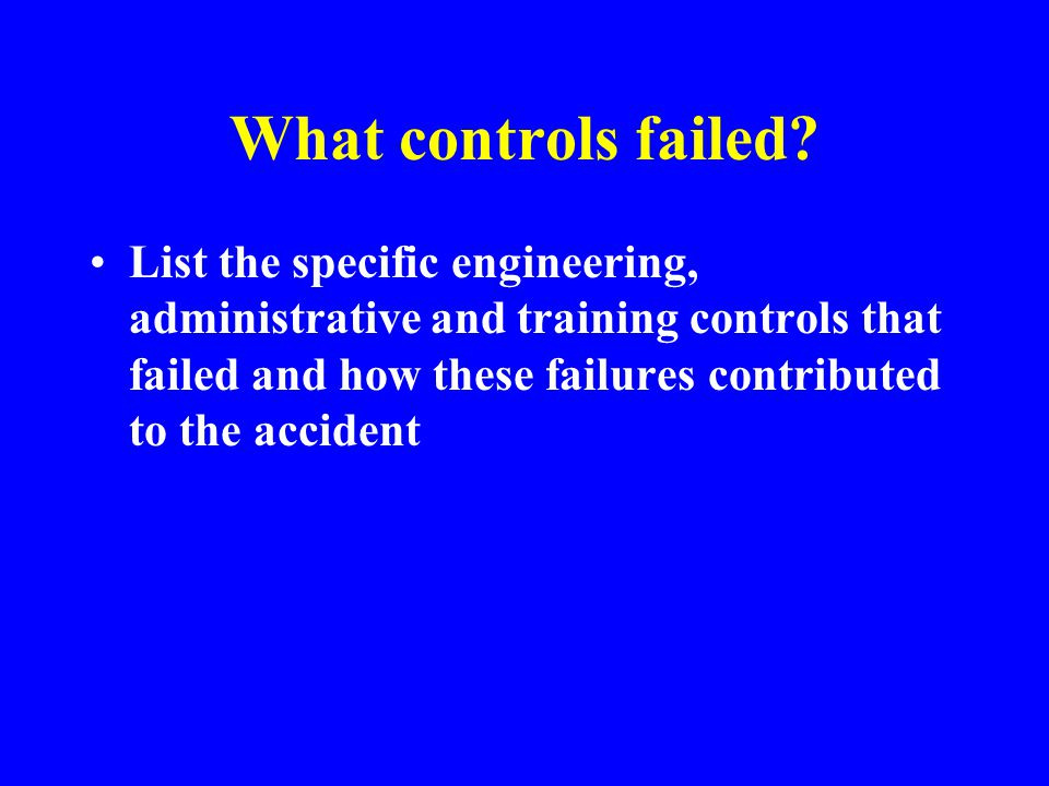 Contribution of Safety Controls such as: Engineering Controls - machine guards, safety controls, isolation of hazardous areas, monitoring devices, etc.