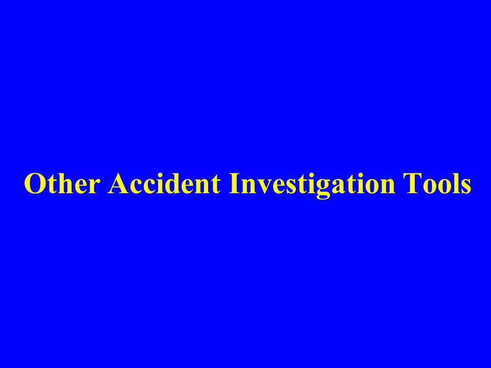 Summary Most accident investigations follow formal procedures An investigation is not concluded until completion of a final report A successful accident investigation determines what happened and how and why the accident occurred Investigations are an effort to prevent a similar or perhaps more disastrous sequence of events