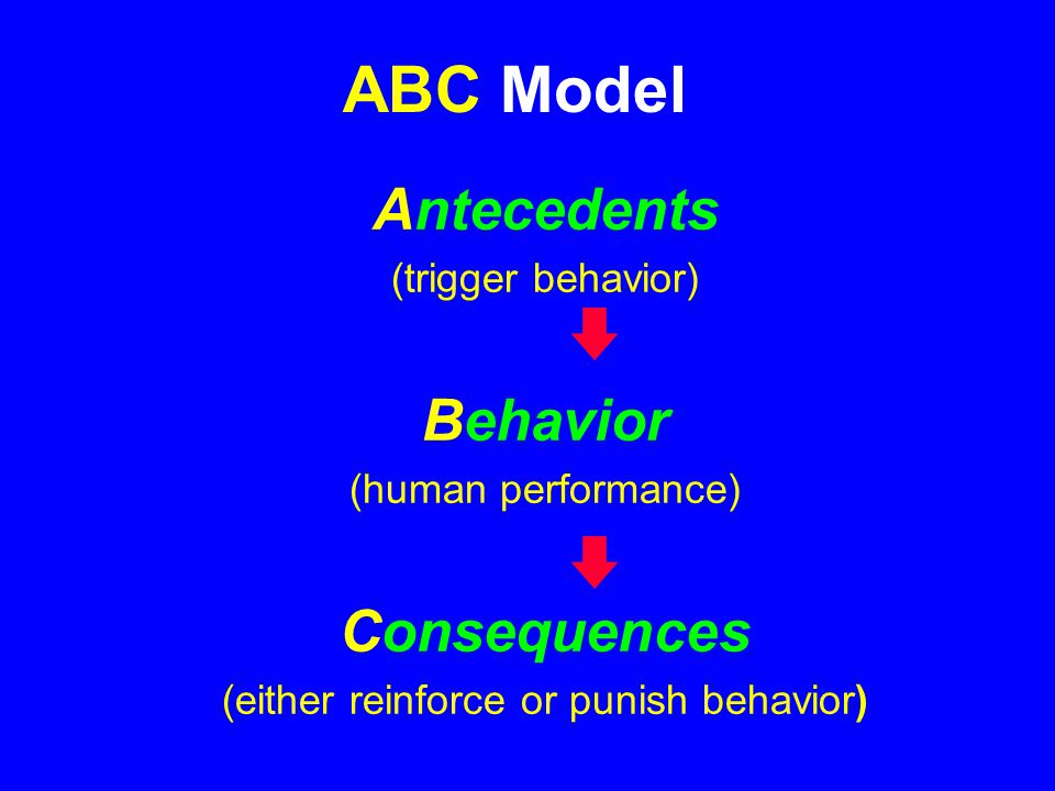Competencies (how it needs to be done) Human Behavior is a function of : Activators (what needs to be done) Consequences (what happens if it is/isn't done)