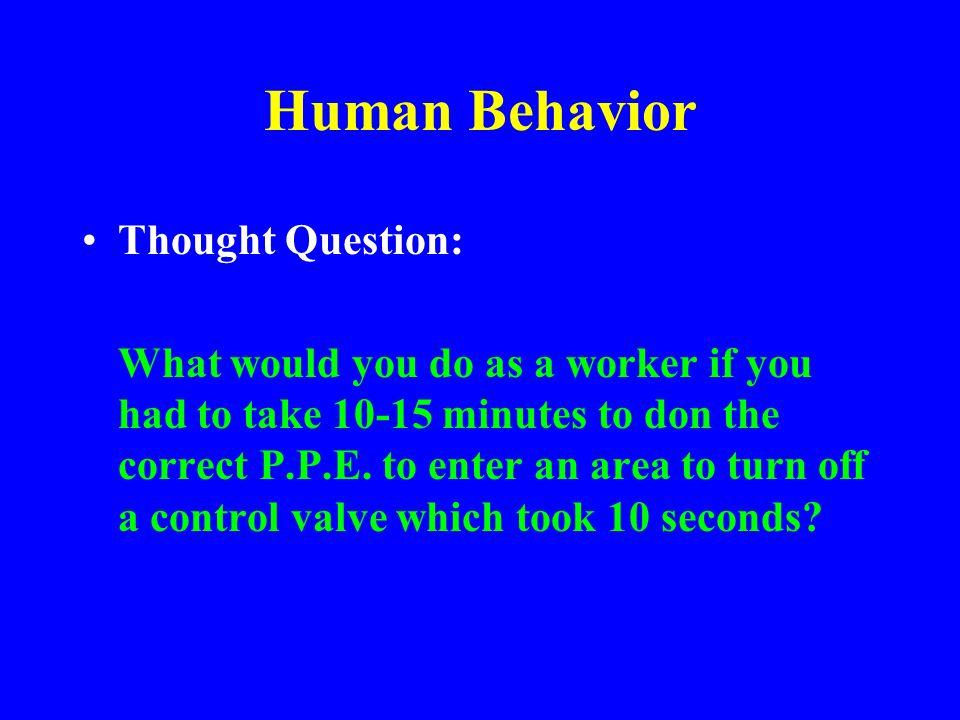 Deviations from SOP No Safe Procedure Employee Didn't know Safe Procedure Employee knew, did not follow Safe Procedure Procedure encouraged risk-takin