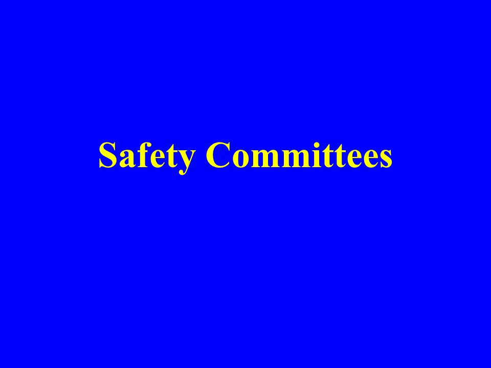 Safety Meeting You Must –Review inspection reports –Evaluate accident investigations –Evaluate APP and discuss recommendations –Document attendance and topics