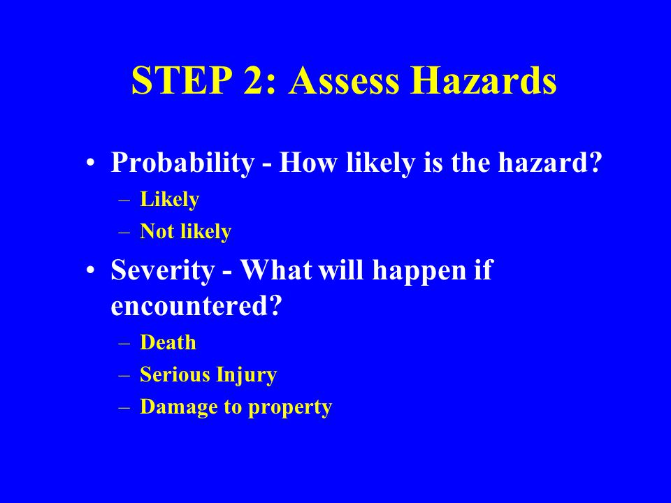 Hazard Identification Review Records Talk to Personnel Accident Investigations Follow Process Flow Write a Job Safety Analysis Use Inspection Checklists