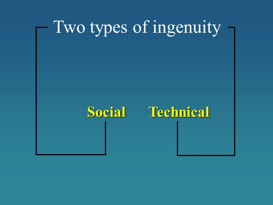 Two types of ingenuity TechnicalSocial