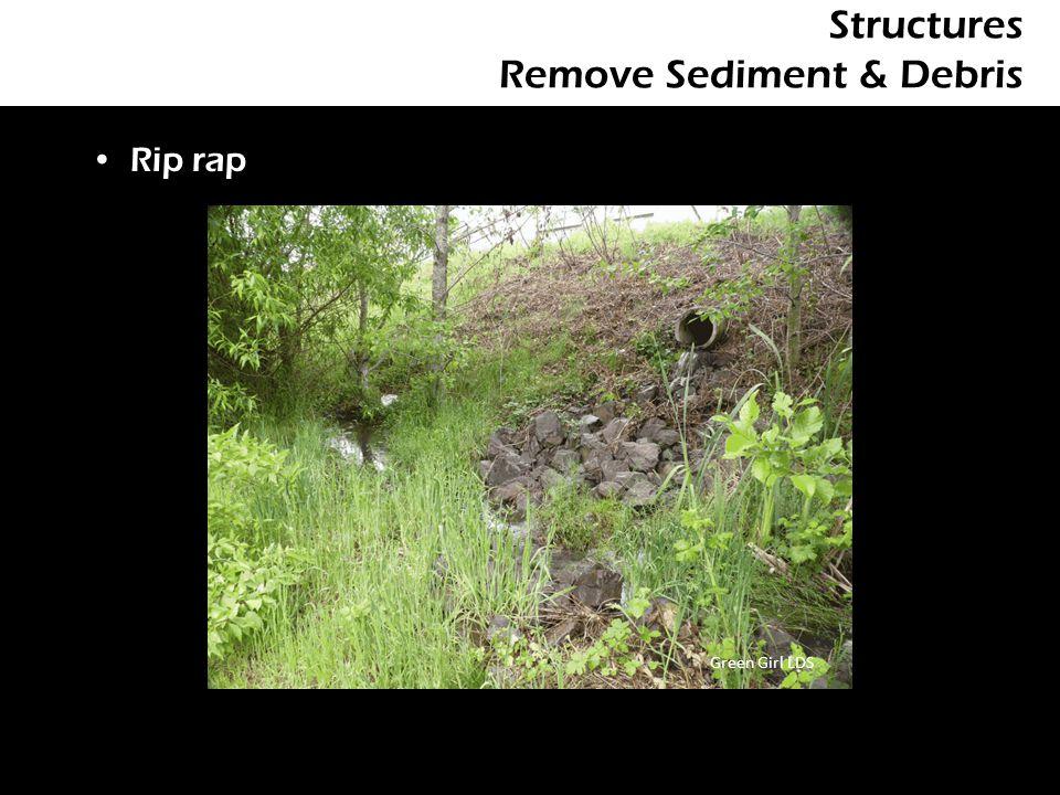 Structures Remove Sediment & Debris Rip rap Green Girl LDS