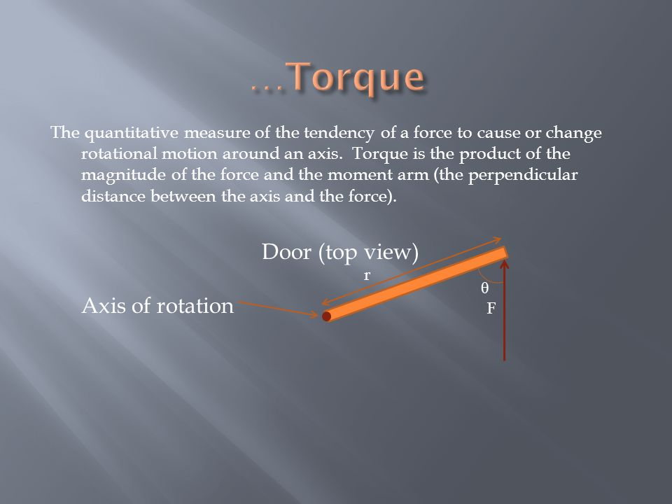 The quantitative measure of the tendency of a force to cause or change rotational motion around an axis.