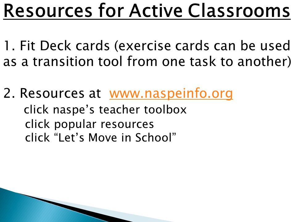 Resources for Active Classrooms 1.