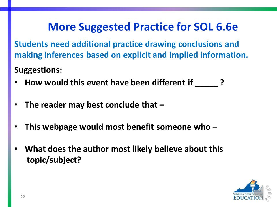 More Suggested Practice for SOL 6.6e from Collecting Rocks by Rachel M.
