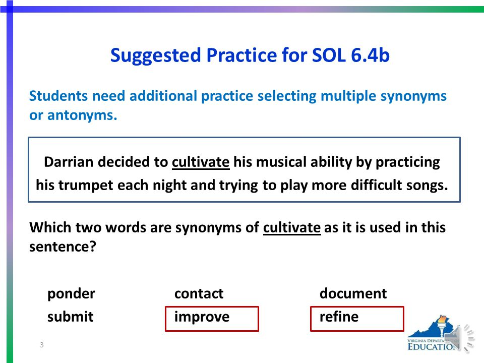 Using Word Analysis Strategies and Word Reference Materials SOL 6.4 - The student will read and learn the meanings of unfamiliar words and phrases within authentic texts.