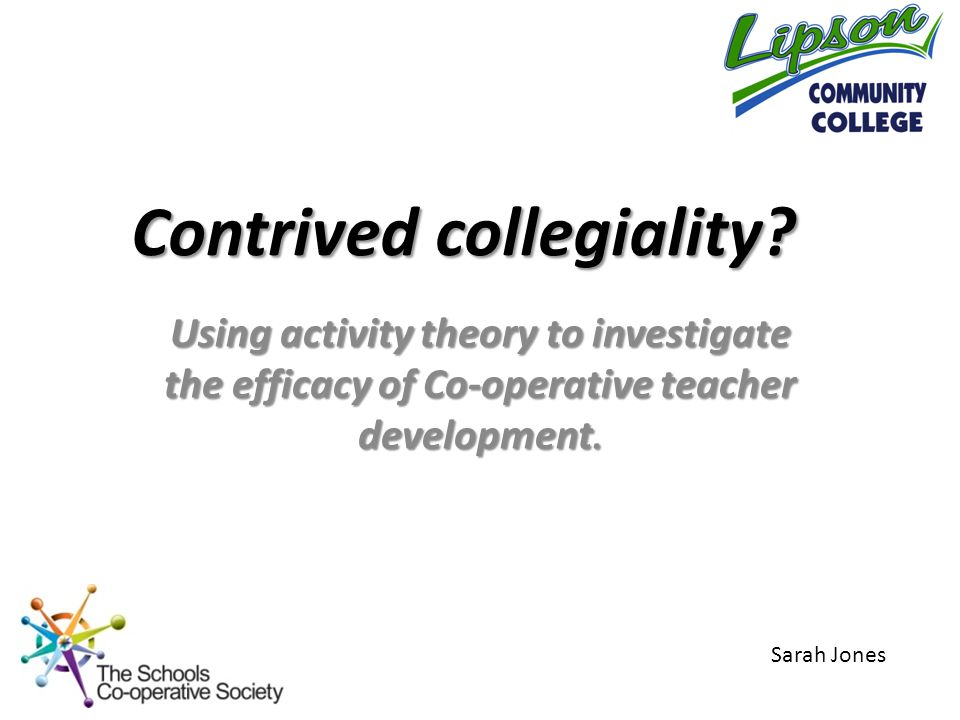 Using activity theory to investigate the efficacy of Co-operative teacher development.