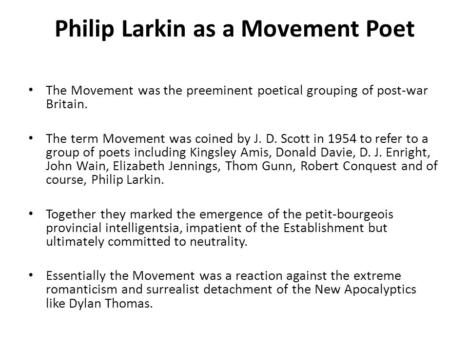 Commentary Stanza 4 and 5 Now Larkin thinks of the dying patient and the sadness in her heart as she experiences the sudden shut of loss Round something nearly at an end. He sympathises with her fear.