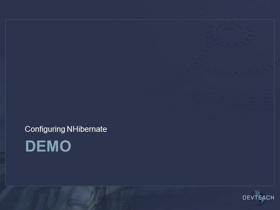 DEMO Configuring NHibernate