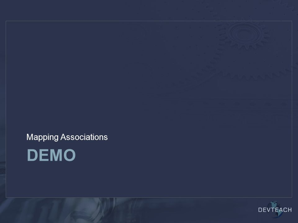 DEMO Mapping Associations