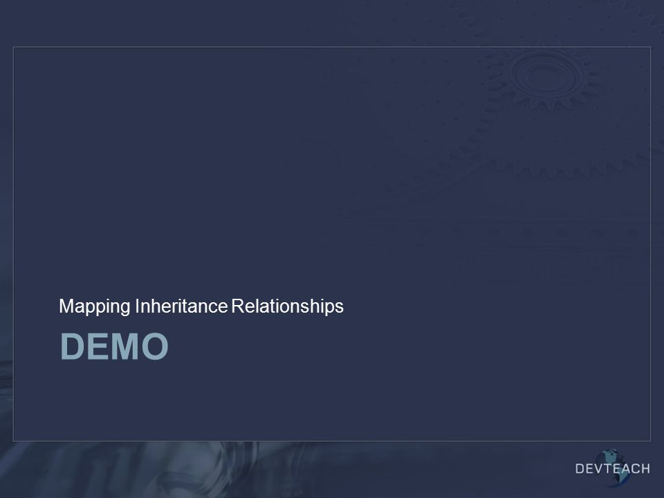 DEMO Mapping Inheritance Relationships