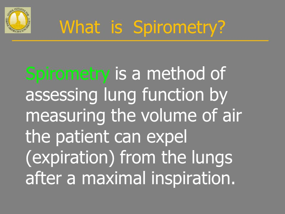 What is Spirometry.