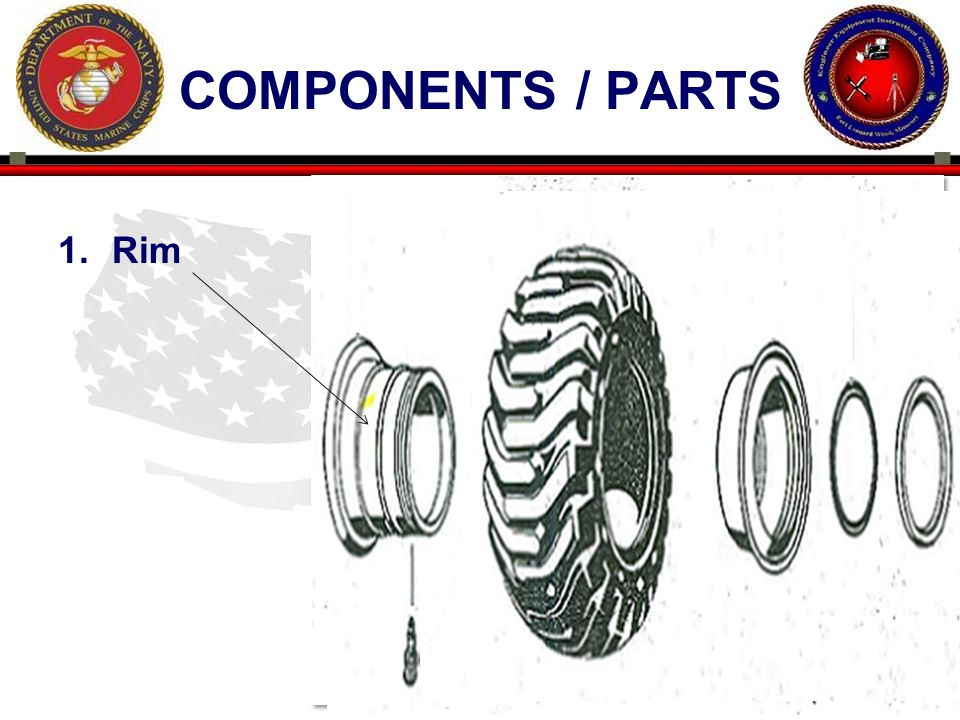 11 ENGINEER EQUIPMENT INSTRUCTION COMPANY COMPONENTS / PARTS 1.Rim