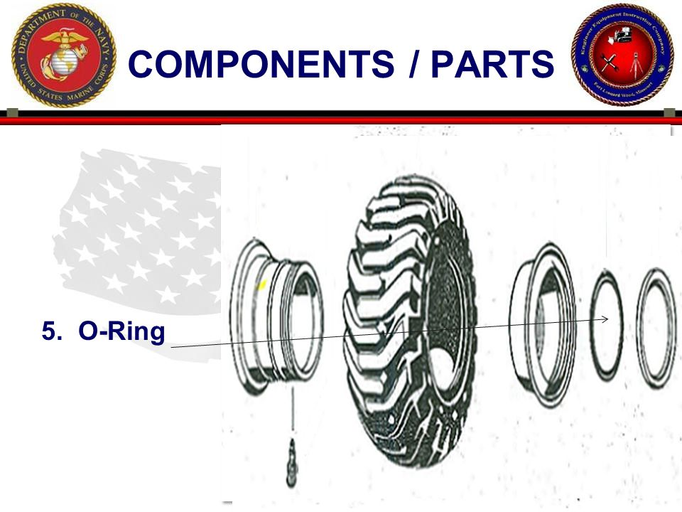 15 ENGINEER EQUIPMENT INSTRUCTION COMPANY COMPONENTS / PARTS 5. O-Ring