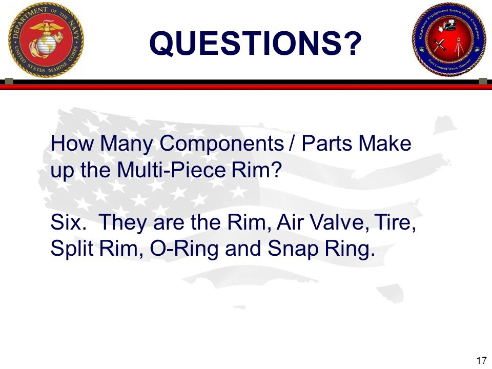 17 ENGINEER EQUIPMENT INSTRUCTION COMPANY QUESTIONS.