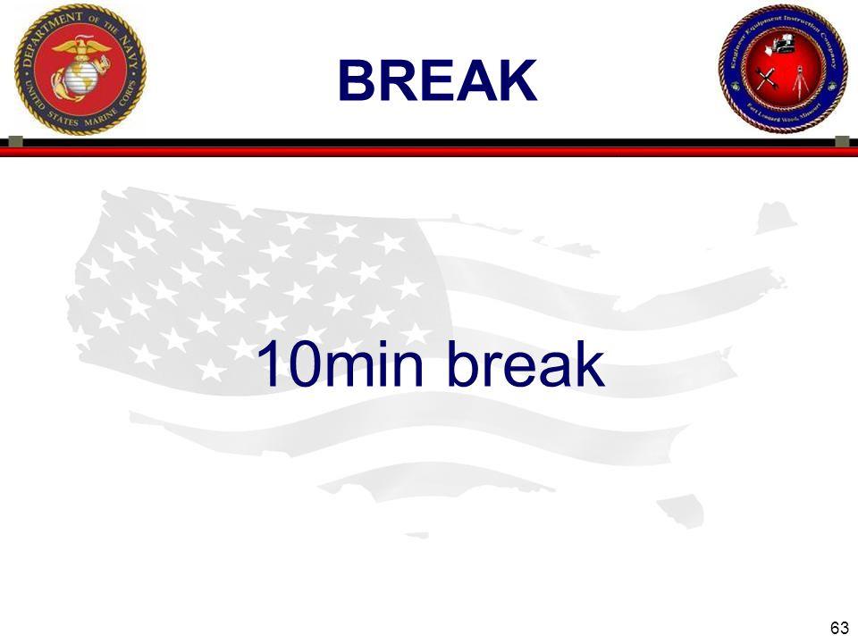 63 ENGINEER EQUIPMENT INSTRUCTION COMPANY BREAK 10min break Slide 63