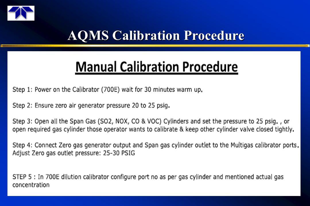AQMS Calibration Procedure 11