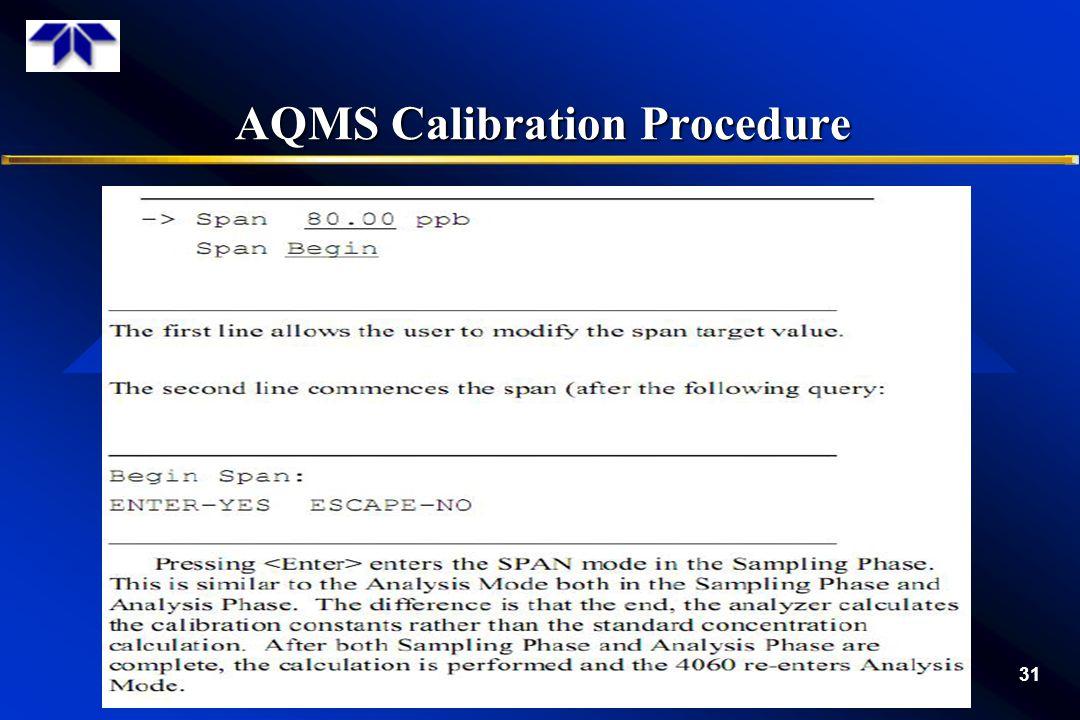 AQMS Calibration Procedure 31
