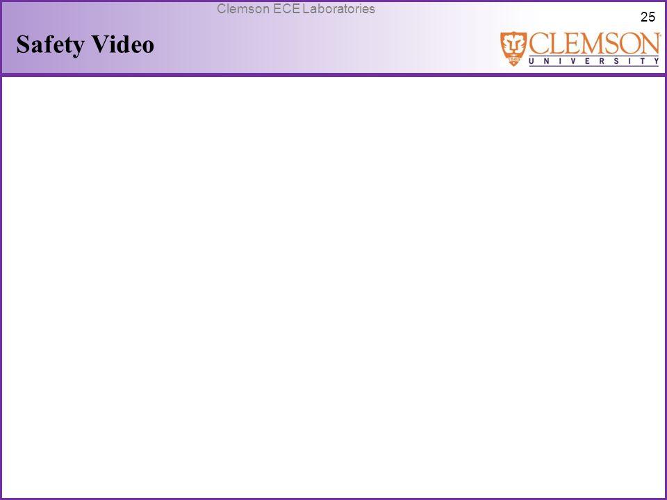 25 Clemson ECE Laboratories Safety Video