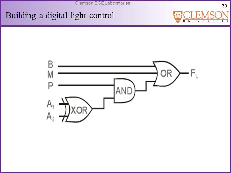 30 Clemson ECE Laboratories Building a digital light control