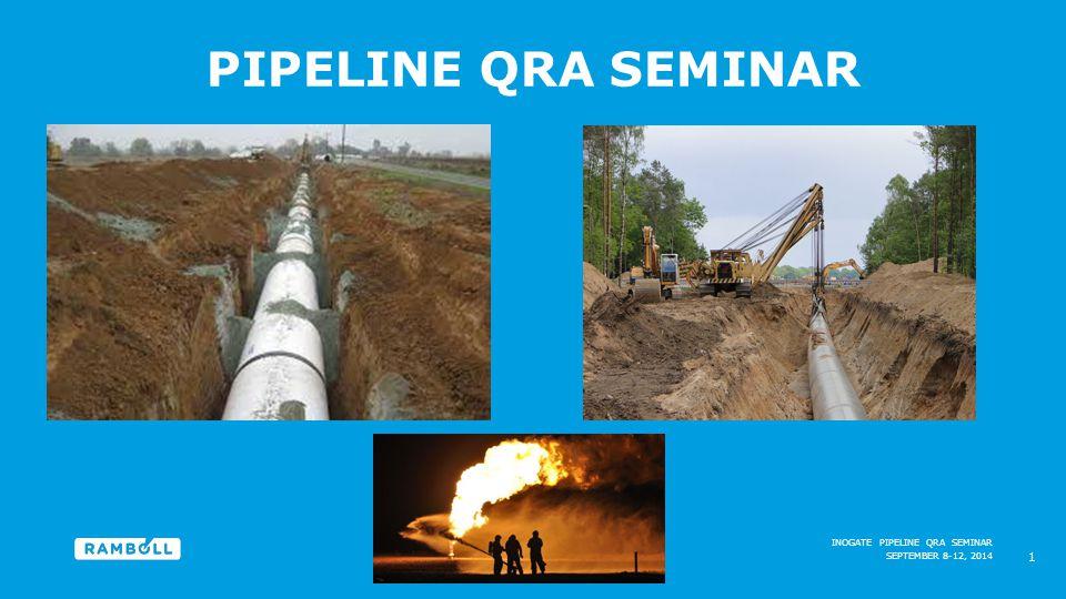 SEPTEMBER 8-12, 2014 INOGATE PIPELINE QRA SEMINAR PIPELINE QRA SEMINAR 1