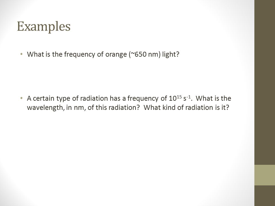 Example substitute: