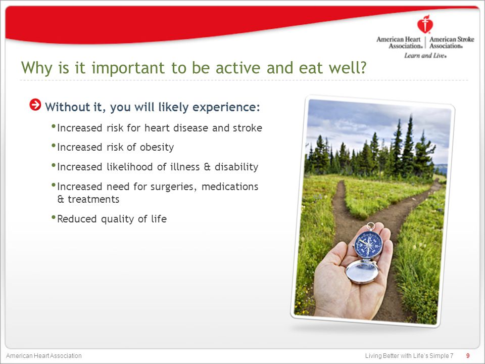 Living Better with Life's Simple 7 American Heart Association Did You Know.