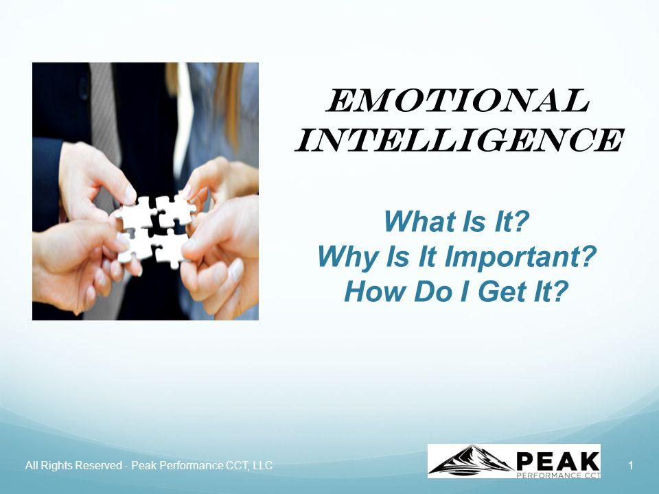 2 Session Objectives Introduction to Emotional Intelligence (EI).