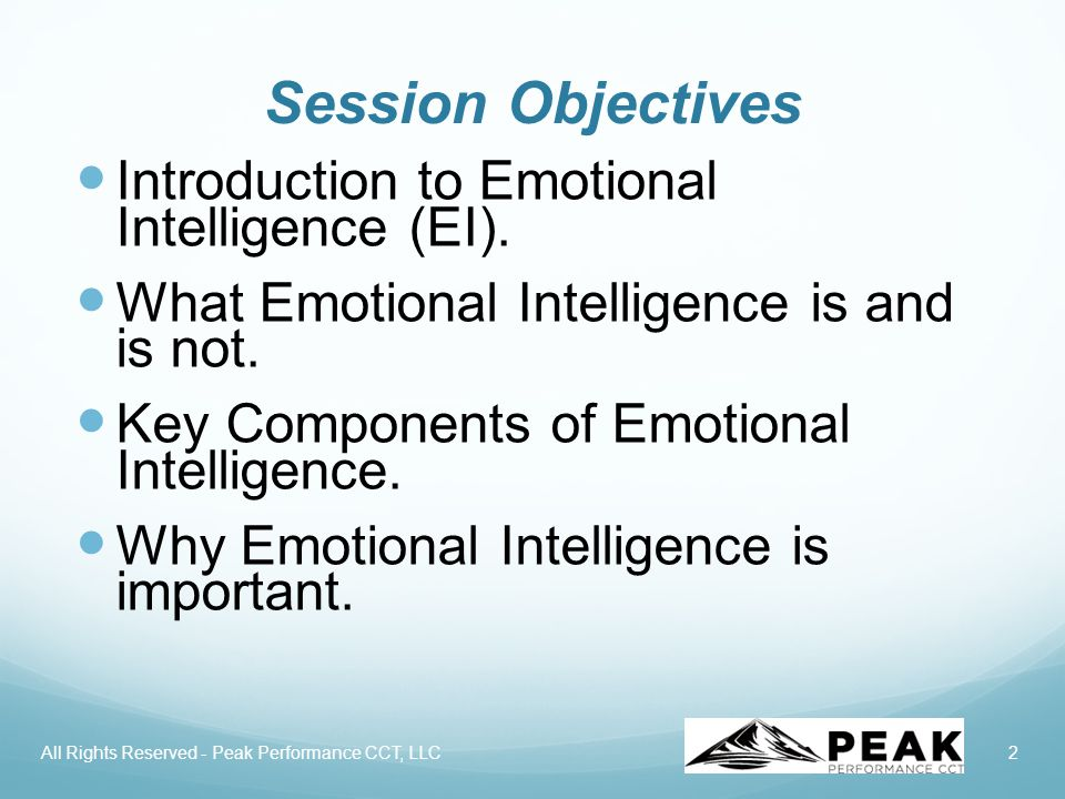 3 Introductions Name What do you know about Emotional Intelligence.