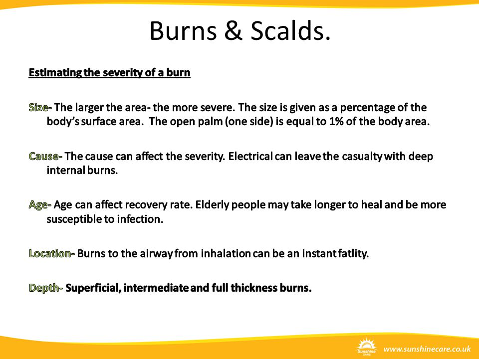 Burns & Scalds.