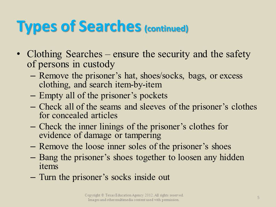 Copyright © Texas Education Agency 2012. All rights reserved. Images and other multimedia content used with permission. Types of Searches (continued)