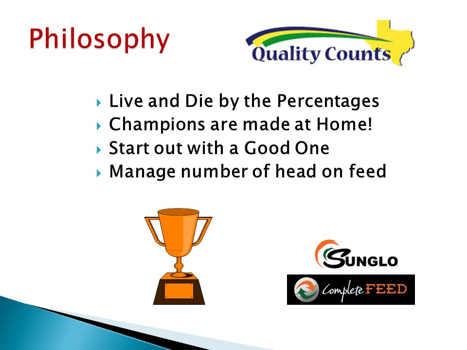  Live and Die by the Percentages  Champions are made at Home.
