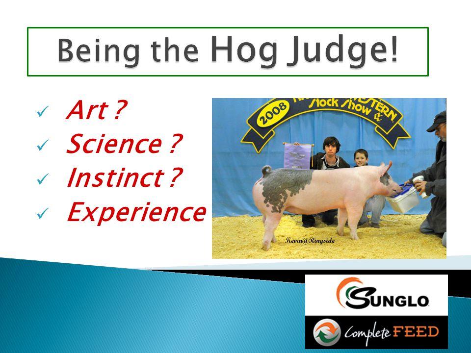 Art ? Science ? Instinct ? Experience