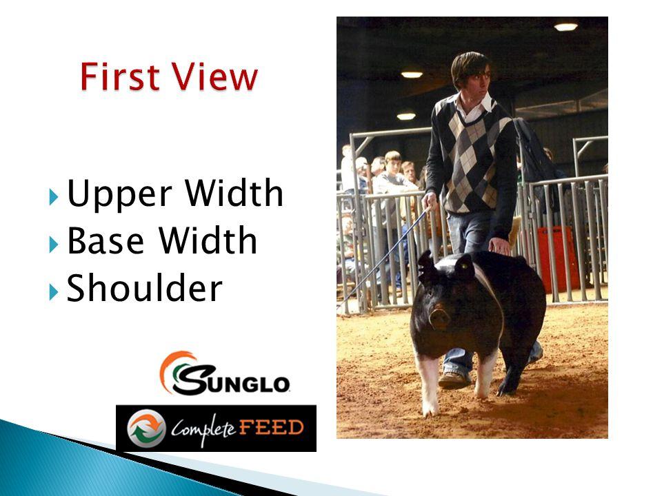  Upper Width  Base Width  Shoulder
