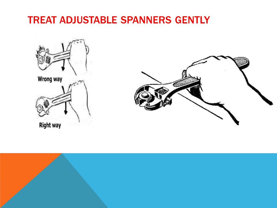 TREAT ADJUSTABLE SPANNERS GENTLY