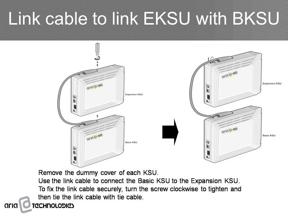 Link cable to link EKSU with BKSU